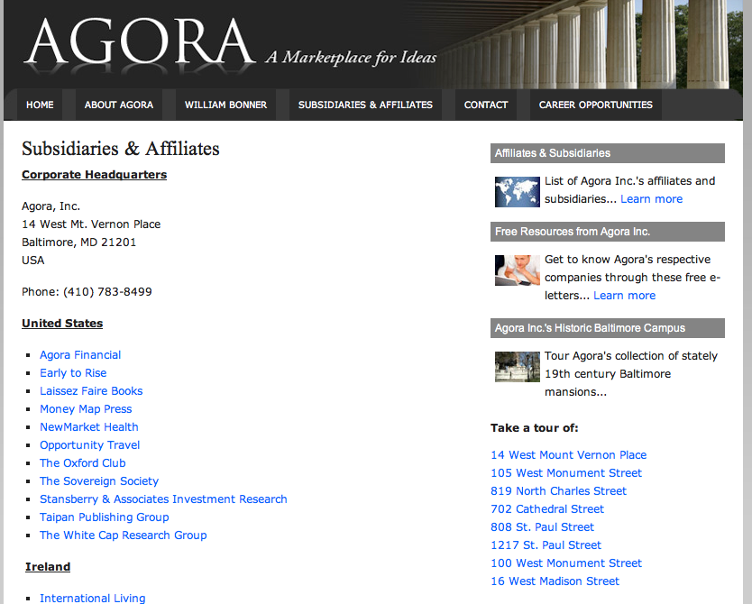 The agora marketplace